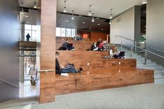 Image 4 of 26 from gallery of Student Activity Center / Overland Partners + WTW Architects. Photograph by Chris Cooper Activity Centers, Learning Centers, Innovation Centre, Youth Center, Youth Activities, Study Areas, Church Design, Dormitory, Library Design