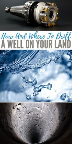 Knowing how and where to drill a well on your land could save you and your family from dehydration if SHTF. If you live miles away from a natural water source you may struggle collecting water once the water stops flowing from the facets. Homestead Survival, Camping Survival, Outdoor Survival, Survival Prepping, Emergency Preparedness, Survival Skills, Survival Shelter, Emergency Supplies, Survival Gear