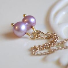 NEW Lavender Pearl Earrings Threaders Wire Wrapped by livjewellery https://www.etsy.com/listing/212570426/new-lavender-pearl-earrings-threaders?ref=shop_home_active_18&ga_search_query=new
