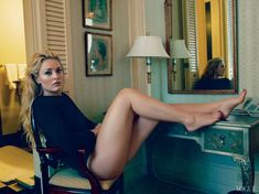 Lindsey Vonn photographed by Annie Leibovitz for the Vogue, August 2013 issue.