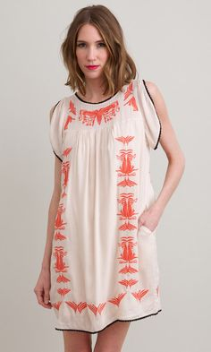 Bethune Dress $64.00 - With black gladiator sandals & A panama hat! Time for vacation!