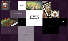 Website Of The Day 28 January 2014 soppo studio by soppo studio http://www.cssdesignawards.com/sites/soppo-studio/24210 Soppo is an interactive production studio based in Gdynia, Poland. We create websites, web applications and online games.