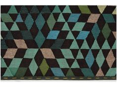 Tappeto in lana a motivi geometrici DIAMOND APPLEGREEN Collezione Triangles by Golran | design Bertjan Pot