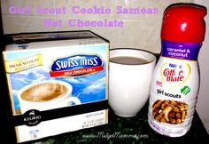 Girl Scout Cookie Samosa Hot Chocolate  http://www.midgetmomma.com/2013/10/04/girl-scout-cookie-samosa-hot-chocolate/