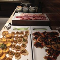 Evening Canapés at the Hilton Brisbane Hotel Executive Hotel Reviews, Brisbane, Family Travel, Food, Family Trips, Meals, Yemek, Eten, Family Vacations