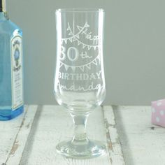 Wish a very merry birthday to your nearest and dearest with a beautiful Personalised 30th Birthday Glass! This is a fantastic keepsake gift to mark this milestone birthday in style.