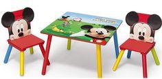 MESA Y SILLAS MICKEY MOUSE DE MADERA - MESAS INFANTILES - MESAS PARA NIÑOS, IndalChess.com Tienda de juguetes online y juegos de jardin