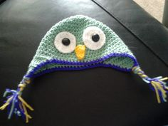 Crochet Owl hat for friends daughter