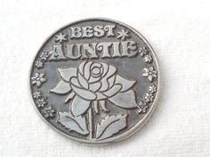 Auntie Love Token Coin - Best Auntie Coin Gift - Gifts for Aunts - Family Gifts Pocket Token - Auntie Gifts - Sentimental Gifts