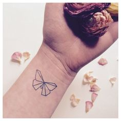 Origami Butterfly  #temporarytattoo #fonrytattoos #butterfly