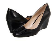Nine West LetMeSee Black/Black Leather - 6pm.com