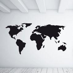 """lavagnetta decorativa da parete """"World Map"""" scrivibile con gessetti, adesiva adatta a tutte le superfici sufficientemente lisce"""