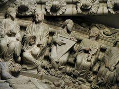 TICMUSart: Pórtico de la Gloria (Ancianos músicos en la arquivolta del tímpano central). Catedral del Santiago - Maestro Mateo (I. M.)