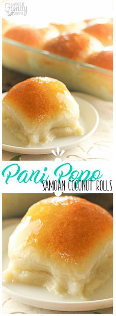 Pani Popo is of my favorite Pacific-Island dishes from my bakery days in Hawaii. It is basically a Samoan sweet roll baked in a delicious coconut sauce. THE BEST! via @favfamilyrecipz Hawaiian Desserts, Hawaiian Side Dishes, Hawaiian Dessert Recipes, Hawaiian Luau, Chamorro Recipes, Chamorro Food, Polynesian Food, Polynesian Sauce, Dinner Rolls