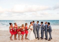 Women's National Team soccer star Carli Lloyd's beautiful wedding in Mexico last winter! Amsale Bridesmaid, Bridesmaid Dresses, Wedding Dresses, Matthew Christopher Wedding Gowns, Coral Wedding Colors, Carli Lloyd, Wedding Album, Wedding Wear, Celebrity Weddings