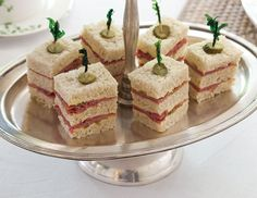 Corned Beef Tea Sandwiches with Mustard Butter