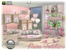here for your sims Nana toddlers bedroom. Found in TSR Category 'Sims 4 Kids Bedroom Sets' Toddler Furniture, Sims 4 Cc Furniture, Sims 4 Controls, Pelo Sims, Sims 4 Bedroom, Kids Bedroom Sets, Baby Bedroom, Kids Rooms, Sims 4 Children