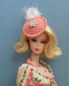5 crochet patterns (PDF) for Barbie size fashion doll  Special Occasions ( hats 15285908939