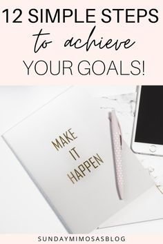 Ultimate guide to goal setting and goal planning in 2020! I'm sharing my top 12 strategies on how to achieve your goals (step by step) this year! This post is packed with tons of valuable goal planning ideas! There's even a free printable goal setting worksheet for you! #goalsetting #goalplanning #goals