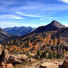 Instagram's shaida05 brings us to Mt. Stuart for some incredible fall foliage.