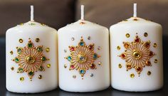 Items similar to Set of 5 Crystal Henna Candles - Henna Inspired Home/Wedding Decor and Favors/Diwali Gifts/Christmas Gifts on Etsy Henna Candles, Diy Candles, Pillar Candles, Heena Design, Diy And Crafts, Arts And Crafts, Candle Art, Diwali Gifts, Custom Candles
