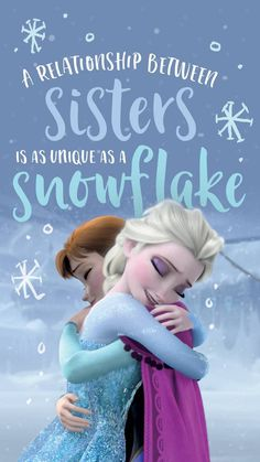 frozen wallpaper by - - Free on ZEDGE™ Frozen Sister Quotes, Frozen Quotes, Sister Love Quotes, Love My Sister, Frozen Sisters, Disney Princess Quotes, Disney Princess Pictures, Disney Princess Frozen, Disney Movie Quotes