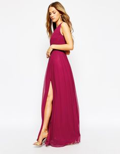 Image 4 ofMango Open Back Maxi Dress With Front Split