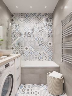 44 bathroom apartment decorating that maximize space and efficiency 39 Bathroom Niche, Boho Bathroom, Bathroom Wallpaper, Bathroom Design Small, Bathroom Styling, Bathroom Interior Design, Bathroom Flooring, Bathroom Storage, Modern Bathroom