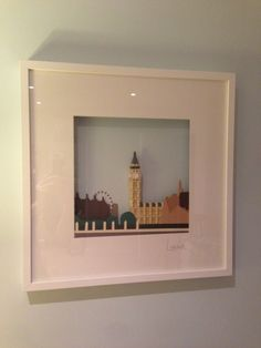 #LEGO Landmark. London. IKEA Hack in RIBBA Frame. He used LEGO Architecture pieces to create this framed work of art.
