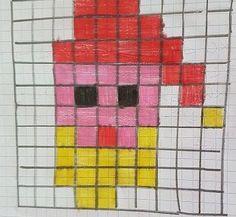 codingtestababbo Bead Crafts, Diy And Crafts, Safety Pin Crafts, Pixel Art, Knitting Patterns, Bee, Coding, Kids Rugs, Kandinsky