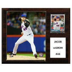 C and I Collectables MLB 15W x 12H in. Jacob Degrom New York Mets Player Plaque - 1215DEGROM