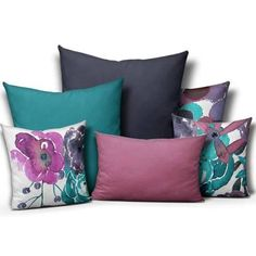20 x 20 pillow covers teal purple - Google Search