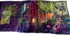 Customers Gallery : Stef Francis, World of Threads & Fabrics Textile Fiber Art, Hand Dyed Yarn, Hobbies And Crafts, Felting, Circles, Creative Ideas, Stitching, Mixed Media, Fabrics