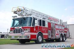 Amarillo Fire Department new 107' Rear mount Ladder Truck.  Ferrara Igniter XD LFD w/ Flat Roof  #Setcom #Aerial #Rescue new deliveries