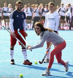 The Duchess of Cambridge made a private visit to the Olympic Park in Stratford to meet the Team GB women's hockey squad on 15 March 2012