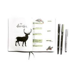 Inga (@ingasbujo) • december monthly spread deer