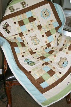 Baby Quilt... I think I have these applique faces ?????