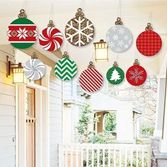 Hanging Ornaments - Outdoor Holiday and Christmas Hanging...
