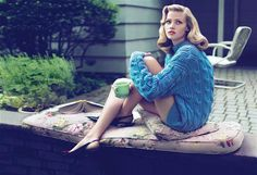 Sweater Girl, Lara Stone Vogue