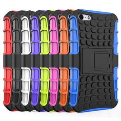 For iPhone 5s Case Heavy Duty Armor Shockproof Hybrid Hard Soft Silicone Rugged Rubber Phone Case Cover For iphone 5 5s <