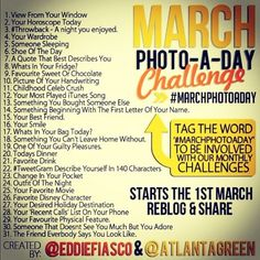photo a day challenge for March :)