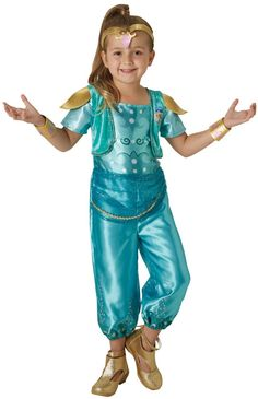 Rubie's Shimmer and Shine, Shine Child's / Girls Fancy Dress Book Week Costume Disney Fancy Dress, Fancy Dress Costumes Kids, Fancy Dress Outfits, Book Day Costumes, Girl Costumes, Shimmer And Shine Costume, Shimmer Y Shine, Style Sarouel, Kids Fashion