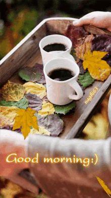 Good morning gif (fall, autumn)