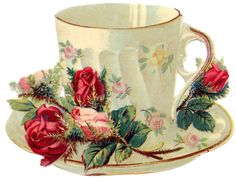 Free Vintage Images Teacup Roses French