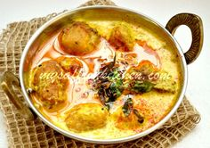 Pakode-Wali Kadhi (Fried Onion Dumplings in Spicy Yogurt Sauce)