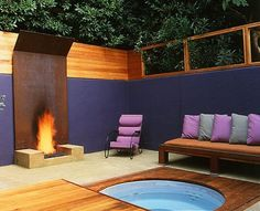 Simple and Crazy Tips and Tricks: Simple Fire Pit Backyard fire pit gazebo awesome. Outdoor Rooms, Outdoor Gardens, Outdoor Living, Outdoor Furniture Sets, Outdoor Decor, Modern Gardens, Outdoor Kitchens, Modern Outdoor Fireplace, Outdoor Fireplace Designs