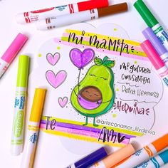 Typography, Lettering, Art Supplies, Cake Toppers, Markers, Drawings, Amor, Frases, Cute Cards
