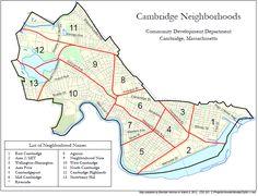 Neighborhood Map of Cambridge, MA - Cambridge, Massachusetts - Wikipedia, the free encyclopedia