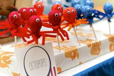 Under the Sea Boys Birthday Party candy ideas