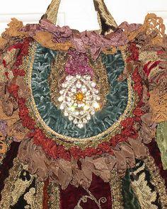 Authentic Magnolia Pearl Vintage Brocade Pin Fabric Large Backpack Carpet Bag | eBay 899.00